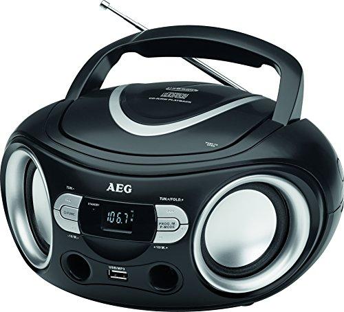 AEG-SR-Stereoradio-mit-CD-inklusiv-USB-Port-AUX-IN-LCD-Display