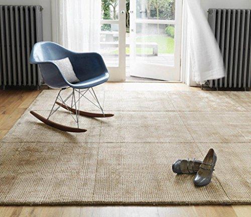 Alfombra salon sala de estar Carpet moderno Design GROSVENOR UNI RUG 60% Lana 40% Viskose 120x180 cm Rectangular Beige | Alfombras barata online comprar