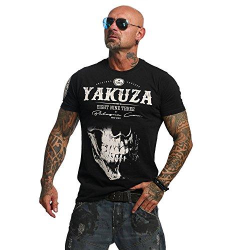 Yakuza Original Herren Daily Skull T-Shirt, Farbe schwarz, Size 2XL - Gangster-schwarz T-shirt