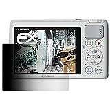 atFoliX Blickschutzfilter für Canon PowerShot S200 Blickschutzfolie - FX-Undercover 4-Wege Sichtschutz Displayschutzfolie