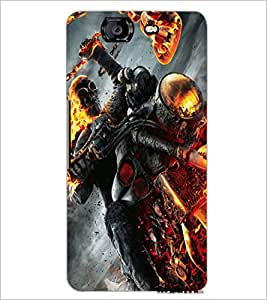 PrintDhaba Ghost Rider D-2172 Back Case Cover for MICROMAX A350 CANVAS KNIGHT (Multi-Coloured)