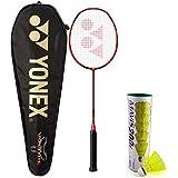 [Sponsored]Yonex Voltric 100 THL & Mavis 200I Combo (Voltric 100 THL Taufic Hidayat Special Edition Badminton Racquet + Mavis 200I Pack Of 6 Shuttlecock)