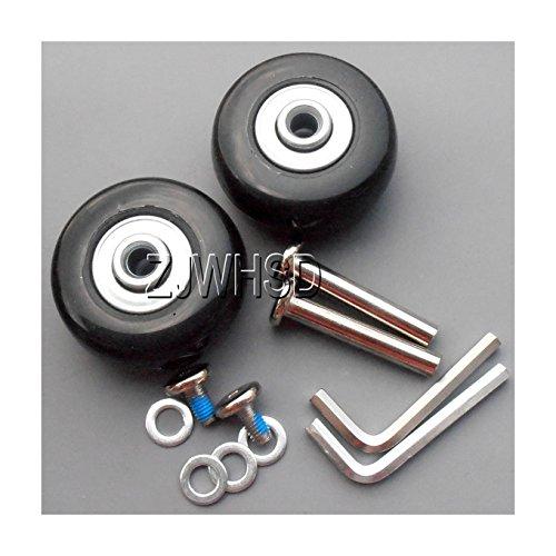 Bagage Valise roulettes de rechange Diamètre extérieur 43 mm (4,3 cm) Carte d'identité 6 mm (0,6 cm) W 22 mm (2,2 cm) 30 mm essieux (3 cm) Kit de réparation [hrus]