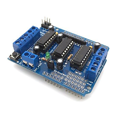 AptoFun L293D Motor Drive Shield Stepper per Arduino Uno Duemilanove Mega R3 AVR ATMEL