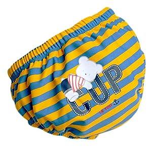 Bebé pañales de natación reutilizables ajustables absorbentes ajusta pañales, A05 13