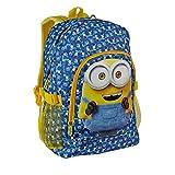 d4586092ffaa71 Karactermania Minions Zainetto per Bambini, 42 cm, Blu**. Grande zaino  della scuola; Grande scompartimento principale e ...
