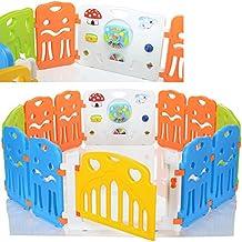 LCP Kids Corral L Parque de juegos infantil con gran elemento con integrados Juguetes / bebé barrera de seguridad - EN 71 certificado