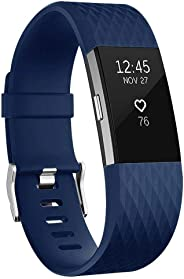 For Fitbit Charge 2 Bands, Adjustable Replacement Sport Strap Bands for Fitbit Charge 2 Smartwatch Fitness Wristband Small-B