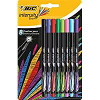 BIC Intensity - Pack de 8 rotuladores de punta fina, color surtido