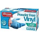 Guantes desechables azules - Sin polvos - Limpieza hogar/cocina/baño