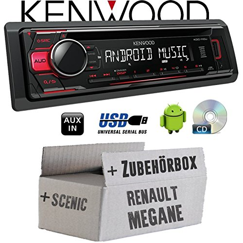 Renault Megane & Scenic 2 - Kenwood KDC-110UR - CD/MP3/USB Android-Steuerung - Autoradio - Einbauset