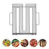 Neco+| Edelstahl Kaltrauchgenerator | Kaltraucherzeuger - Sparbrand für Fleisch, Fisch & Gemüse auf dem Grill, Smoker oder Räucherofen  Feinste Raucharomen durch Kaltrauch