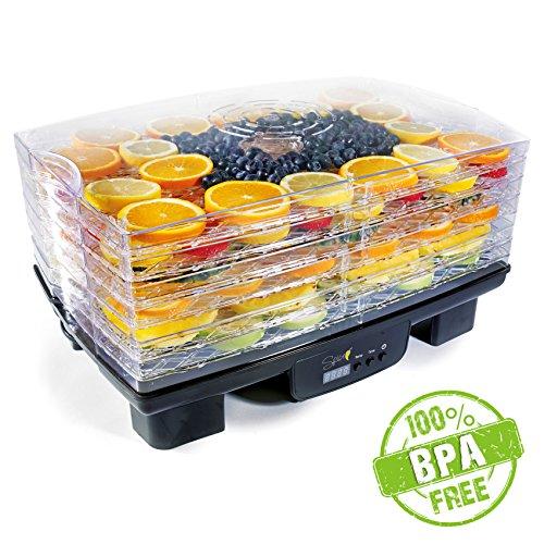 spice-teseko-mucho-essiccatore-disidratatore-per-alimenti-6-scomparti-regolabili-display-lcd-timer-temperatura-regolabile-40-70-gradi--550-w