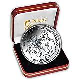 Isla De Man 2015Batalla de Waterloo del Duque de Napoleón Bonaparte Moneda de plata 925