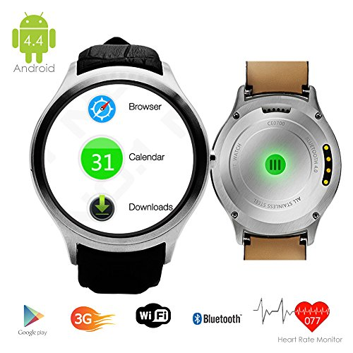 Indigi® Android 4.4Smart Watch (3G + WiFi) Google Play Store entsperrt AT & T T-Mobile StraighTalk Smartphone