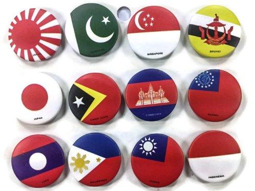 2 Ipad Kostüm - Die 4,4cm Chic Master Set # 6von 12National Flagge Badge Button Pin pinbacks, rund, 2Größen erhältlich zu wählen 1.75 Inches white red green