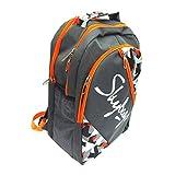 #9: Skybags Unisex Grey & Orange Flux Casual Backpack