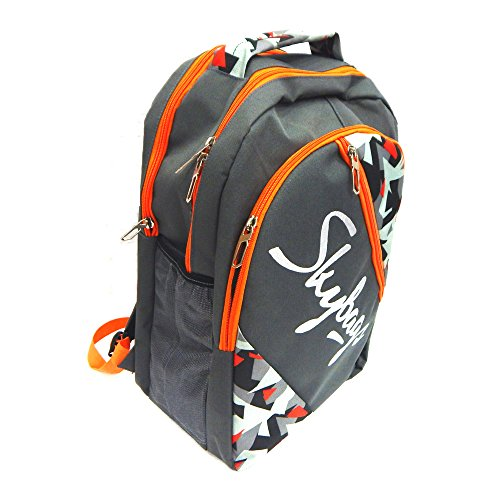 Skybags Unisex Grey & Orange Flux Backpack  available at amazon for Rs.480