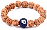 #2: 5 Mukhi Evil's Eye Indonesian Rudraksha Bracelet with Nazar Suraksha Kawach 100% Original & Lab Certified By Saubhagya Global