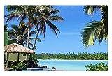 iRocket Innen Boden Teppich/Matte–South Pacific Pool und Strand (59,9x 39,9cm 60cm x 40cm)