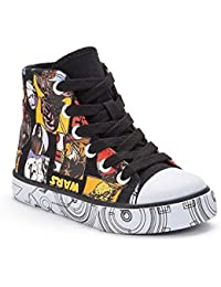 quality design 4f1a7 0fcaf Disney Star Wars niños high-top zapatillas lona