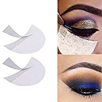 KOLIGHT Pack of 100pcs Professional Disposable Eyeshadow Shield Under Pad Patches For Eyelash Extensions Lip Makeup Protection