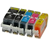 5 Tintenpatronen für Canon PGI-525 CLI-526 PIXMA MG5350 iP4950 MG5250 MG5150 MX895 MX715 iP4850 ix6550 MG6250
