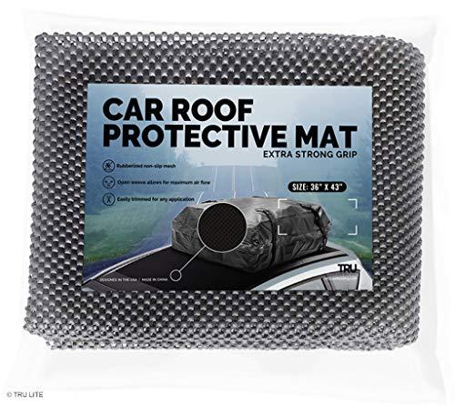 TRU Lite Autodach-Schutzmatte, rutschfest, für Polster und Schutz vor Beschädigungen und Kratzern - strapazierfähige Polsterung und Griff, 36x43 (Kajak-rack-falten)