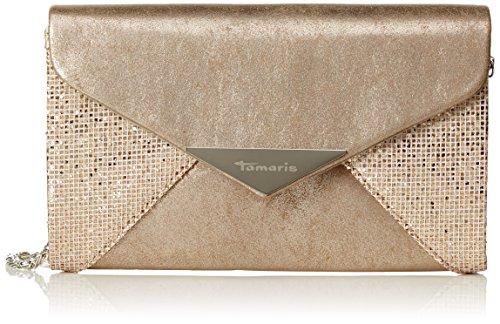 Tamaris Damen Fernanda Clutch Bag, Gold (Copper Comb.), 4.5 x 11.5 x 19 cm (Metallic-patchwork-tasche)