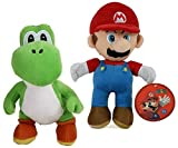 Set Mario + Yoshi als Stofftier - Super Mario Plüschfigur