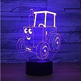 Crjzty 7 Farbwechsel Wohnkultur Visuelle 3D Leuchtende Zug Kopf Auto Führte Schreibtischlampe Cartoon Licht Baby Schlafzimmer Atmosphäre Schlaf Nachtlicht