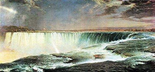 Das Museum Outlet-Niagara Falls von Frederick Edwin Church-Leinwand (61x 45,7cm)