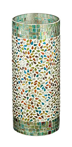 "Regal Art & Gift Mosaic Hurricane, 12"", Rainbow"