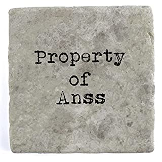 Property of Anss - Single Marble Tile Drink Coaster