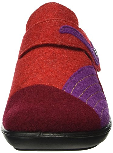 Romika Damen Ibiza Home 306 Pantoffeln Rot (bordo-kombi 416)