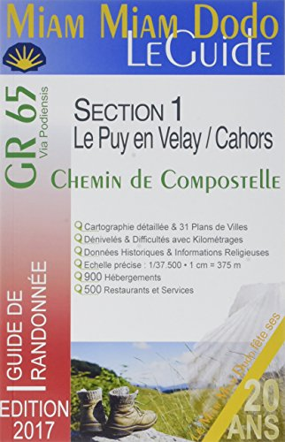 Pack 2017 LaCarte+Miam-miam-dodo Section 1 et 2 (Le Puy-en-Velay  Saint-Jean-Pied-de-Port)