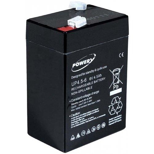 akku-net Blei-Gel-Akku für Lampe Johnlite Staubsauger Halogen Lampe 6V 4,5Ah (ersetzt auch 4Ah 5Ah), 6V, Lead-Acid