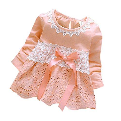 Covermason Baby Mädchen Kleider Prinzessin Kleider Dresses (S(0-6 Monate), Rosa)