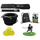 360 Dynamic Speed Resistance And Assistance Trainer Kit 8 Ft. Strength 80 Lb Resistance Running Training Bungee Band (Waist). Solo Or Partner. Multi-Sport Maximize Power, Strength, Speed! EBook!