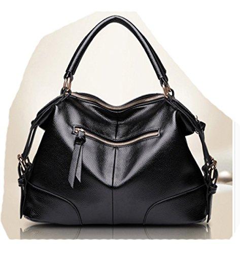 LAIDAYE Frau Schultertasche Messenger Bag Handtasche Mode-Handtaschen Brown