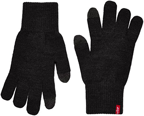 Levi's ben touch screen gloves, guanti uomo, nero (black), medium