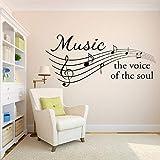 wukongsun Musique Sticker Musique Soul Musicale Vinyle Wall Art Autocollant Chambre Intérieur De La...