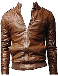 Betrothales Pu Herrenjacke Lederjacke Bikerjacke Mode Männer Ubergangsjacke  Kunstleder Ntel Jacken Kunstlederjacke Männer Nner… cb9f25fdfb