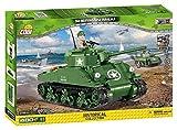 Cobi-2464 Small Army Carro Armato M4A1 Sherman 420 Pezzi, Colore Verde, 2464