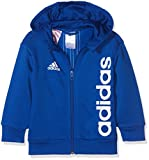 adidas Kinder Linear Full Zip Kapuzen-Jacke, Blau (Collegiate Royal/White), Gr. 110