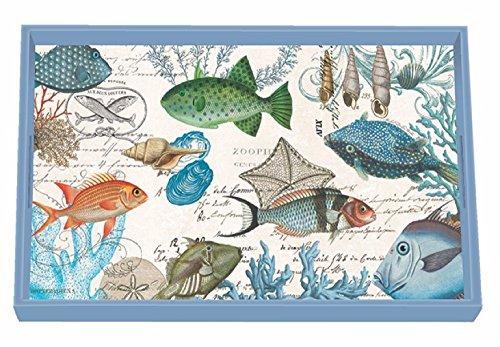 Michel Design Works Eitelkeit Tablett, Pfingstrose, Sea Life, 12.25