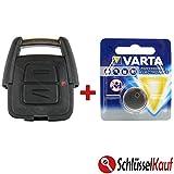KONIKON 2 Tasten Schlüssel Gehäuse Funk Fernbedienung Ersatz mit Batterie Autoschlüssel passend für Opel Astra Corsa Meriva Omega Zafira