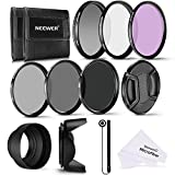 Neewer 58mm Professionale Kit di Filtri UV/CPL/FLD & Filtri a Densità Neutra (ND2, ND4, ND8) & Accessori per Fotocamere Canon Rebel & EOS