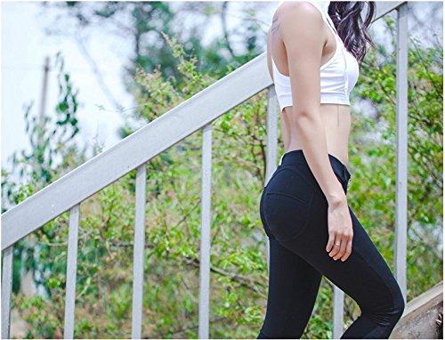 Angcoco Women's Sexy Peach Hip Butt Lift Stretch Leggings Pants Black