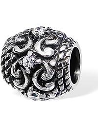 So Chic Joyas - Abalorio Charm - Compatible con Pandora, Trollbeads, Chamilia, Biagi - Plata 925